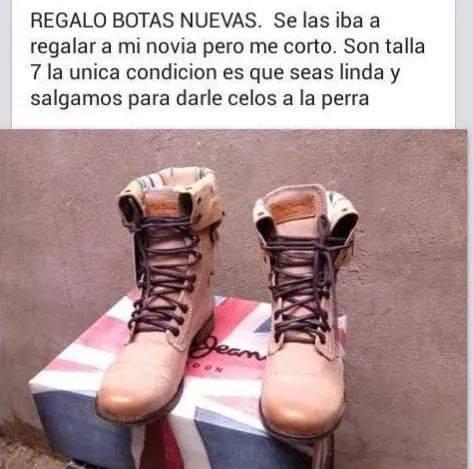 Meme Regalo botas nuevas