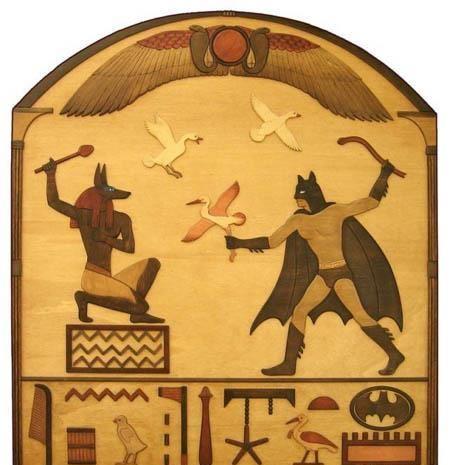 Meme Batman vs los faraones egipcios